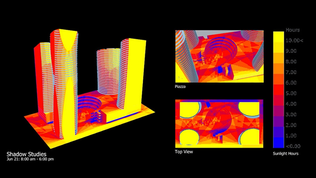 Parametric design images for 5th & Macleod project.