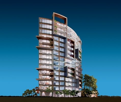 View of 6th & Fir project.