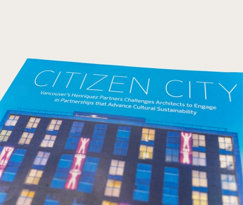 Detail of Citizen City book cover.