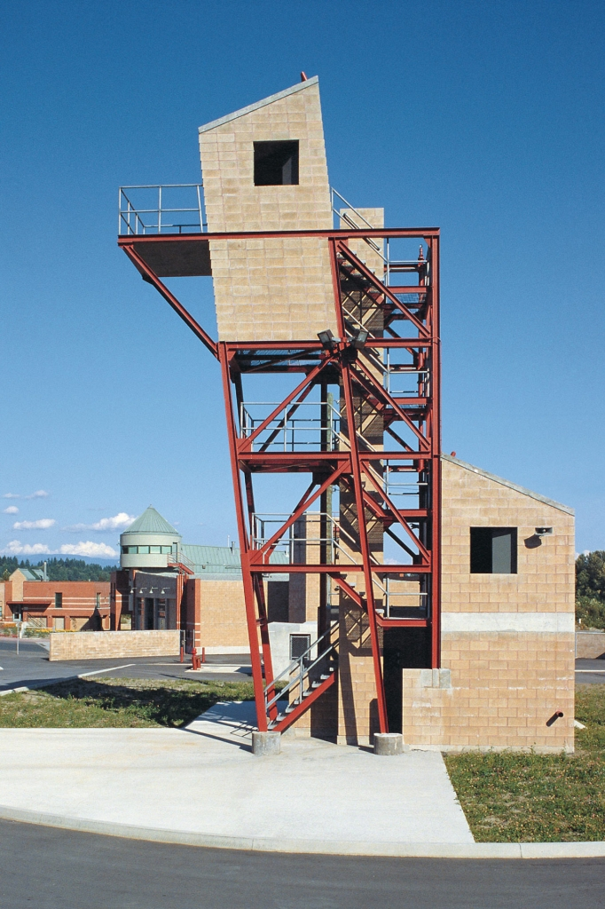 View of Firehall Training Tower.