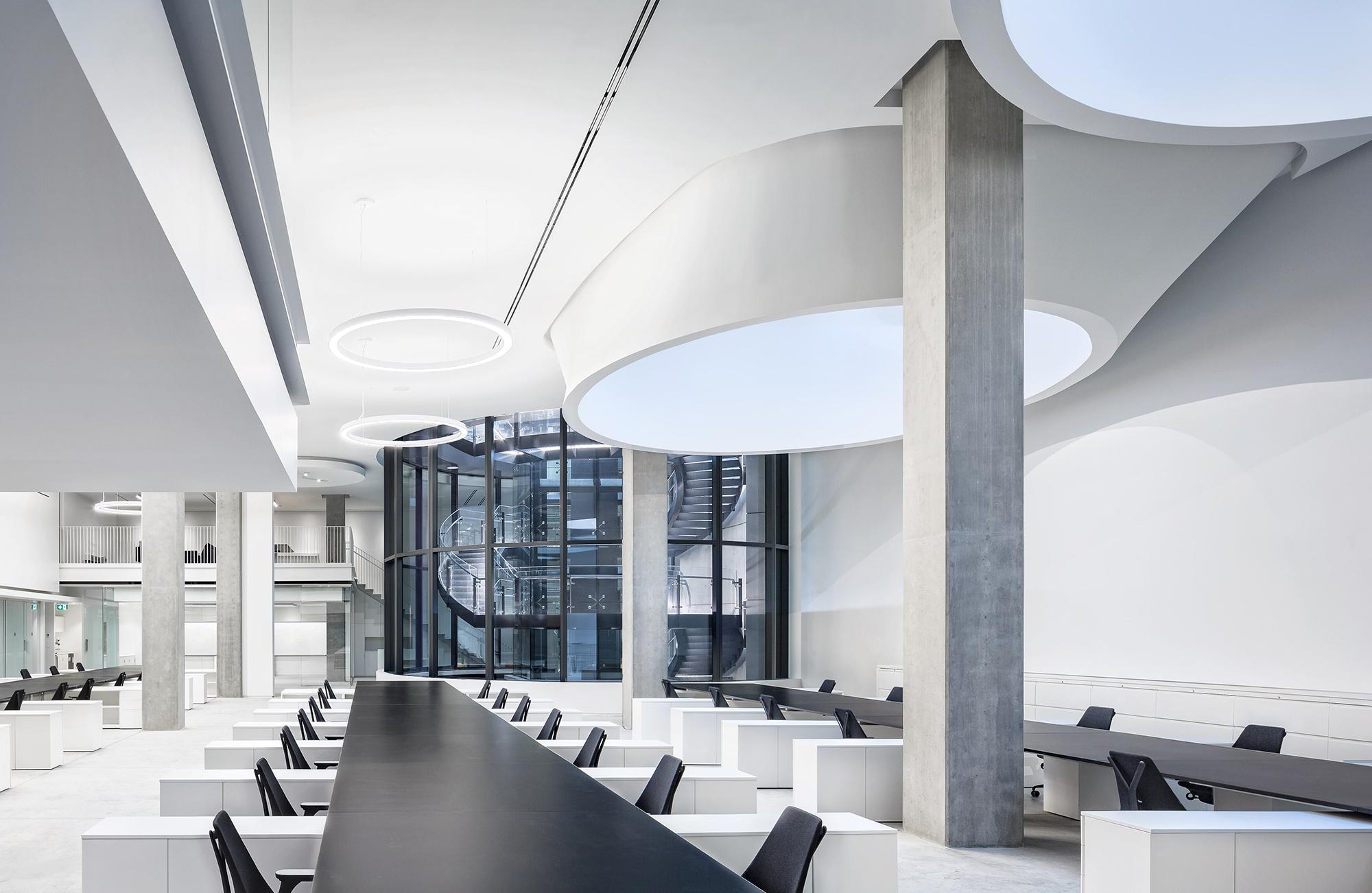 Interior view of Henriquez Partners Architects Studio.