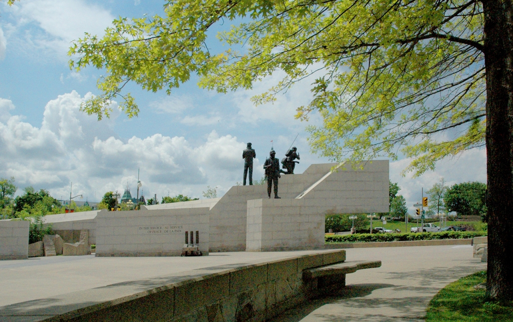 View of The Reconciliation: United Nations National Peacekeeping Monument.