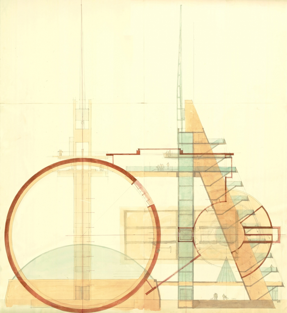 Conceptual drawing for Queen Elizabeth Tower.