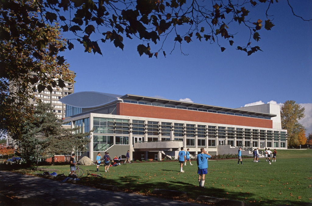 View of UBC Recreation Centre.