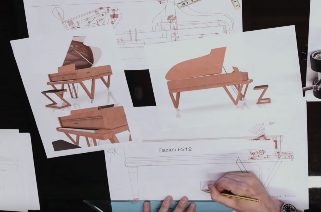 Planning and development of the TELUS Garden Fazioli piano.