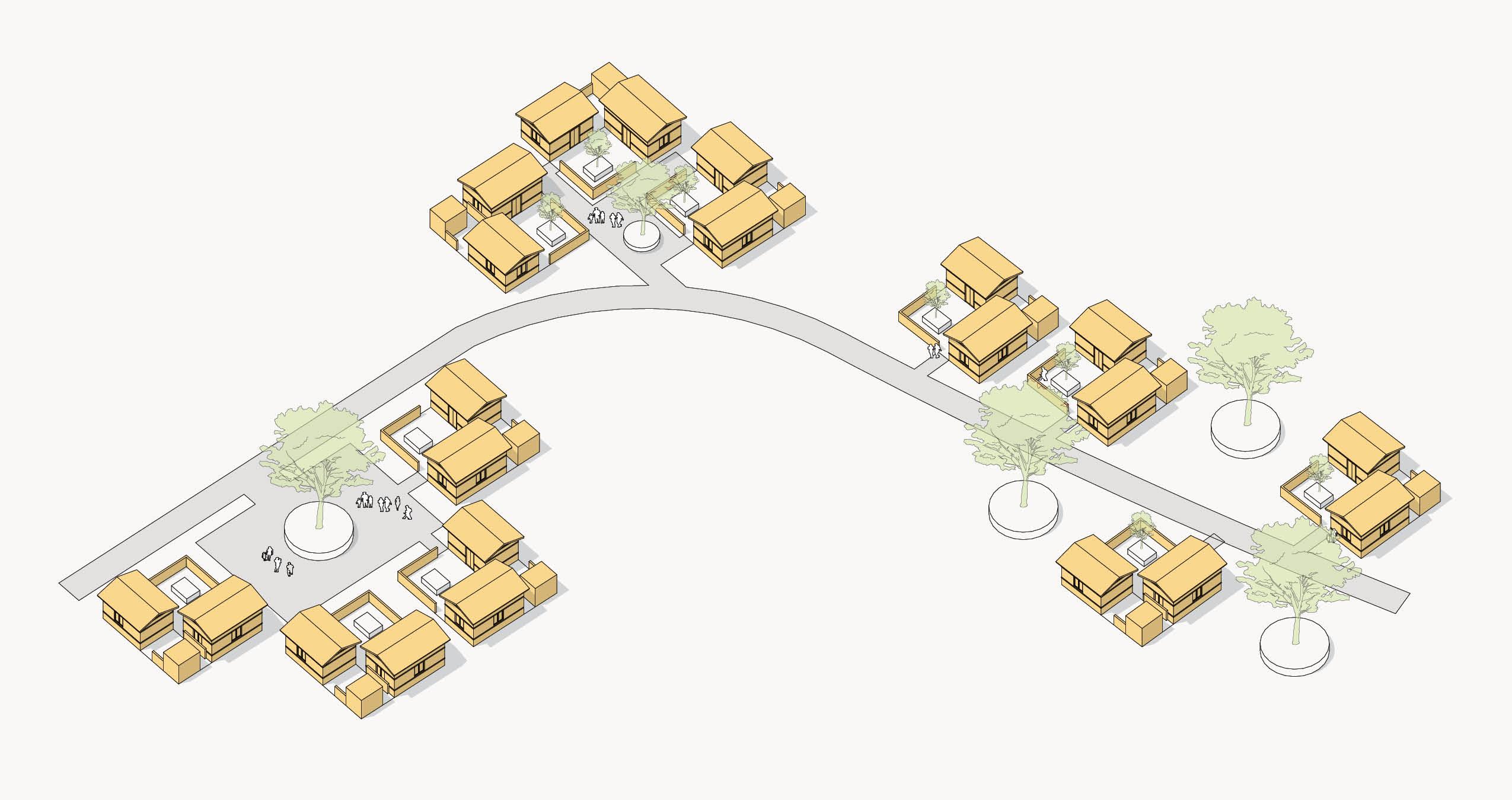 Henriquez's conceptual community plan for Phase 1 of Bansbari reconstruction